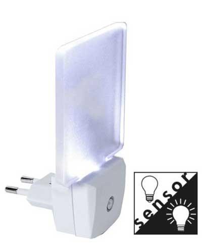 Star Trading Illumination LED Nattlys med sensor Star Trading Illumination LED Nattlys Frostet EUR plugg 0,5W 5lm