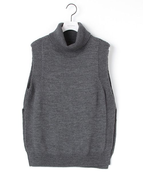 ELFORBR(エルフォーブル) 公式ファッション通販サイト/オフタートルネックノースリーブニット(ベスト)|セレクトスクエア