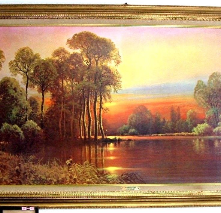 Sunset Glow By Artist A D Greer Signed X Large Fine Print ...