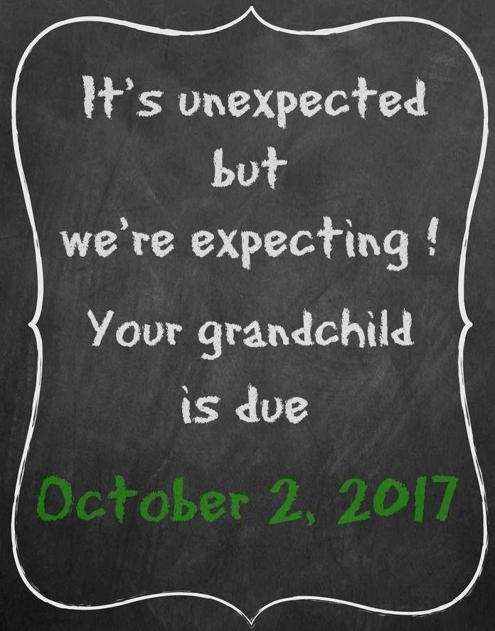 Pregnancy announcement for grandparents