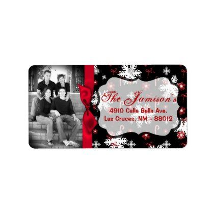 personalized custom photo christmas mailing label in 2018