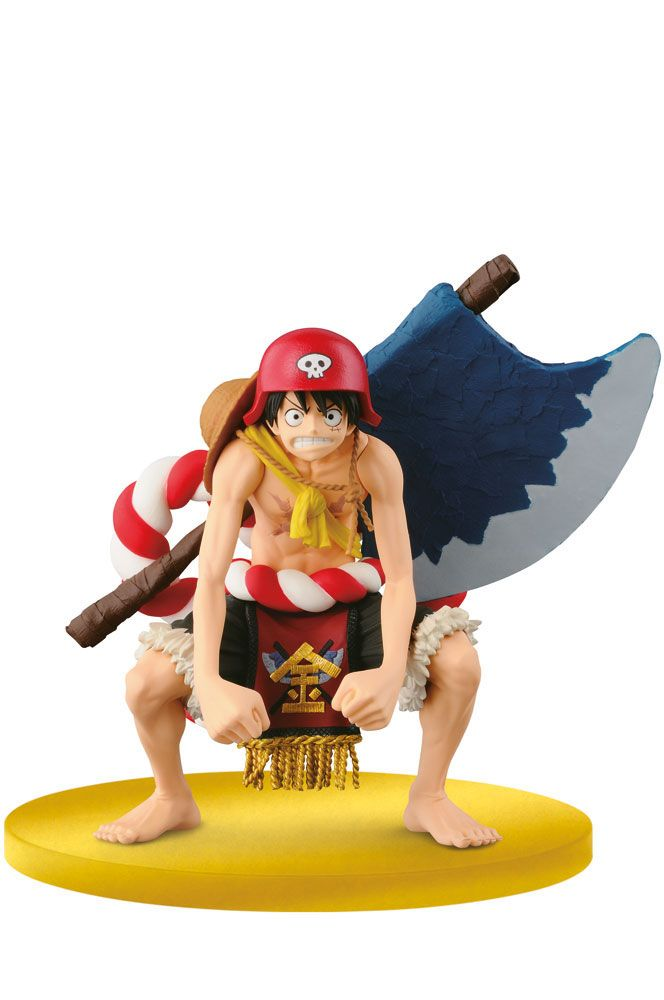 One Piece Scultures Figur Big Zoukeio Luffy 12 cm
