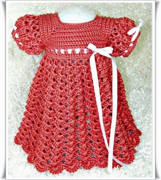 Örgü Renkli Bebek Elbise Modelleri4