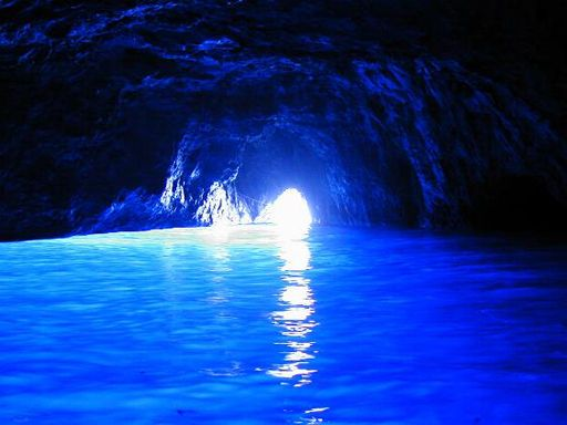 Entrance of Blue Grotto Capri