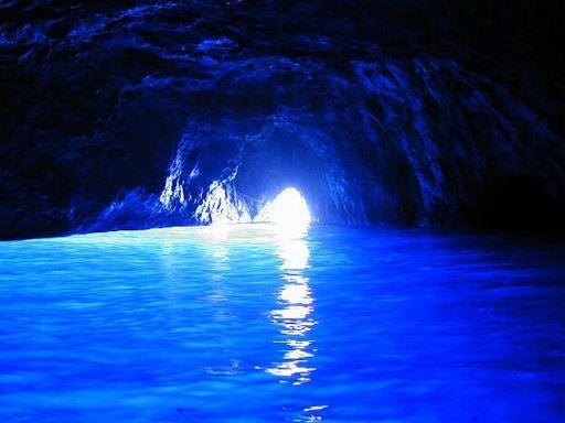 Entrance of Blue Grotto Capri