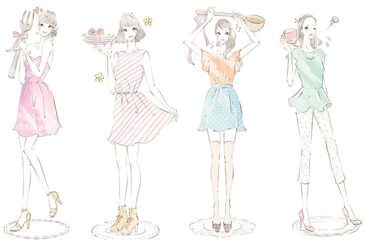 miya‖ イラストレーター miya /女性向けイラスト,ファッションイラスト,おしゃれ