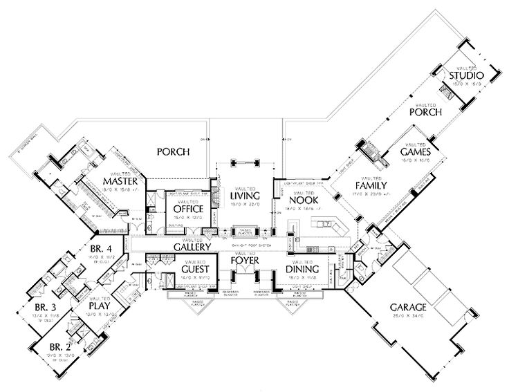 Floor Plans Aflfpw01609 1 Story Prairie Home With 5