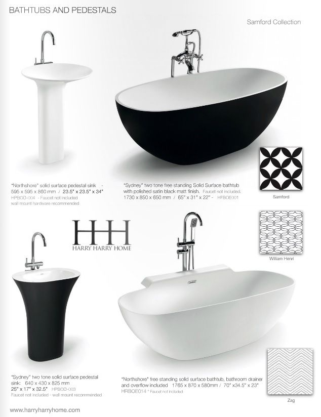 Black and white bathrooms will never go out of fashion!