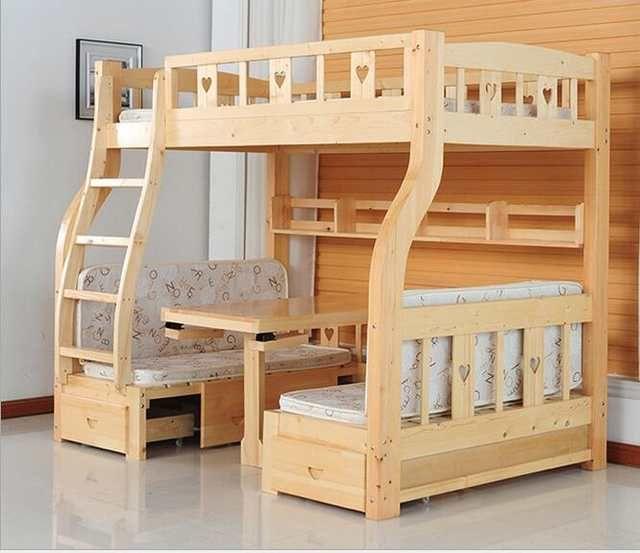 Children Beds multi-function environmental children bunk bed