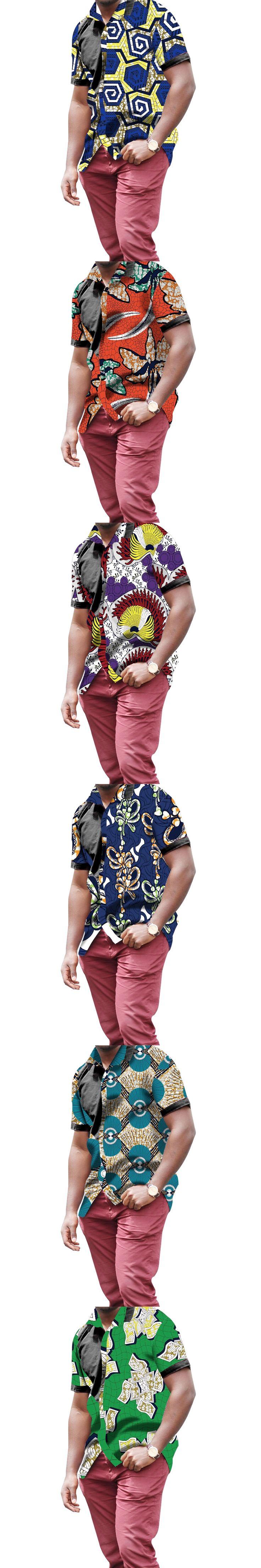 Men's African Shirts Africa Festive Pattern Long Sleeve Shirts Men Fashion Print African Men Clothing Customized