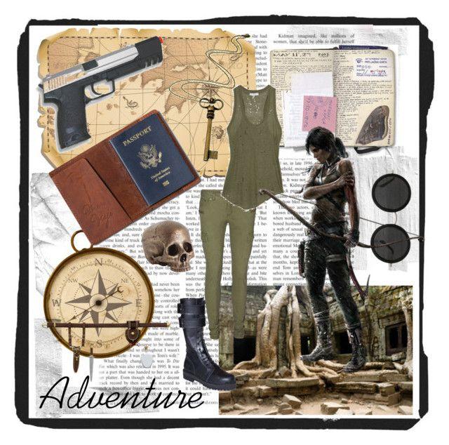 """Lara Croft Adventures/Cambodia"" by khaleesi-daenerys-targaryen ❤ liked on Polyvore featuring The Row, TOMS, Rock 'N Rose, GAS Jeans, Vero Moda and IRO"
