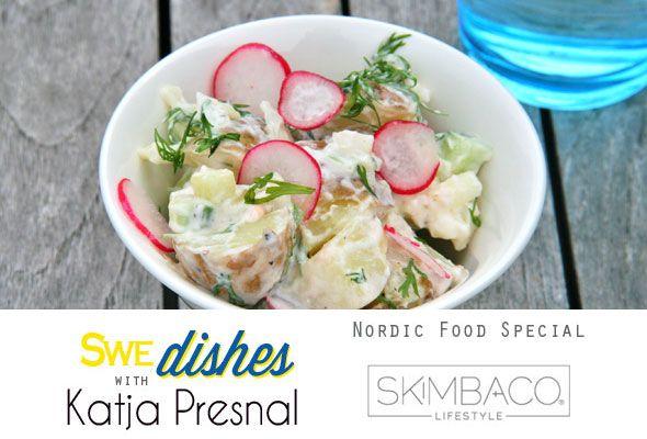 Swe-DISHES: Potato Salad Recipe with New Potatoes, Dill & Radishes