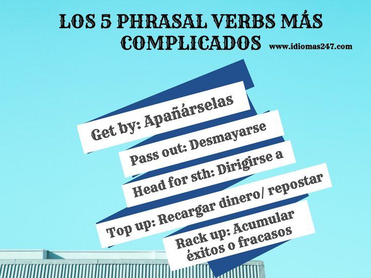 ¡Aprende los #phrasalverbs más complicados con nuestra academia! #ingles #aprendeingles #idiomas #english #learnenglish