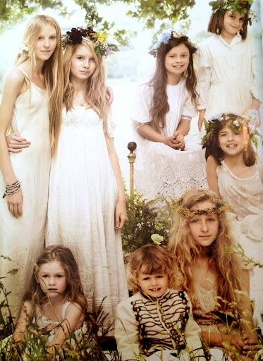 Kate Moss' Gypsy Boho Wedding