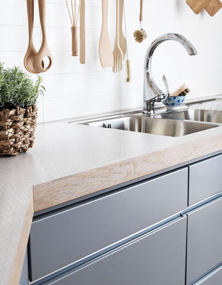 Kjøkkeninspirasjon -  Innredning kjøkken - grå kjøkkeninnredning fra Drømmekjøkkenet