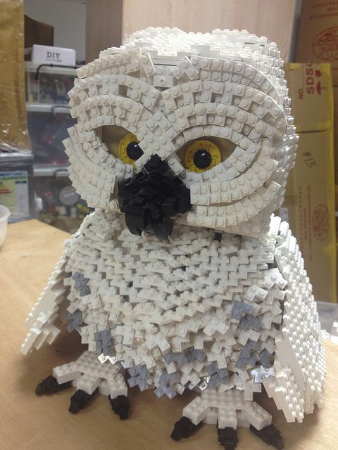 Lego Snowy Owl, Keith you can barely tell this is legos!