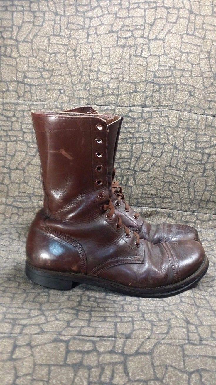 ANTIQUE WORLD WAR 2 JUMP PARATROOPER BOOTS SZ 13 WW2 WW1 MUSEUM MILITARY ARMY | Clothing, Shoes & Accessories, Vintage, Men's Vintage Shoes | eBay!