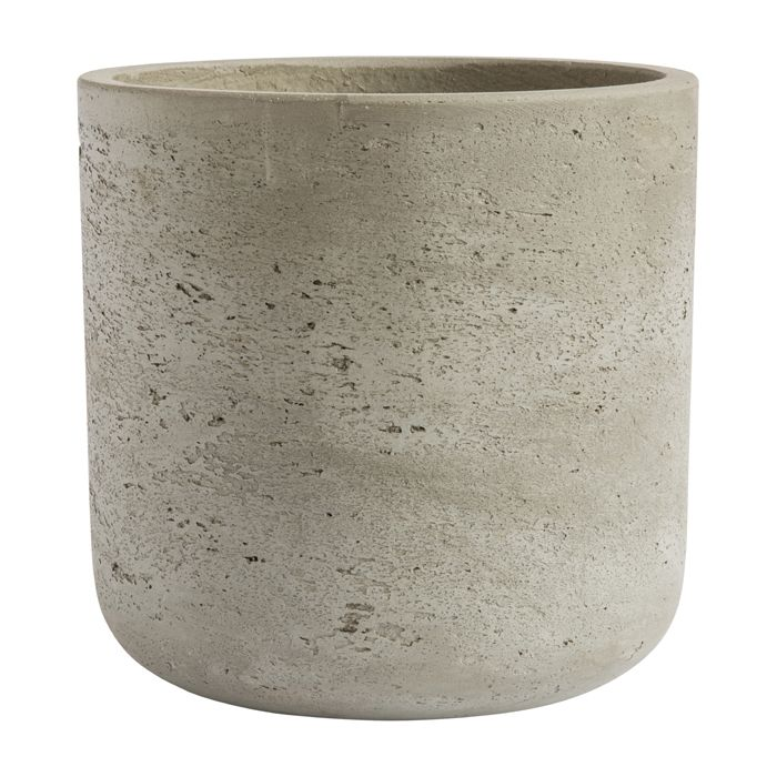 This planter is made of cement.