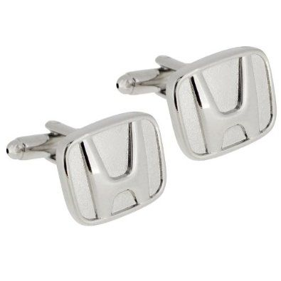 Silver Honda Logo Automotive Car Cufflinks