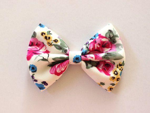 floral hair bow