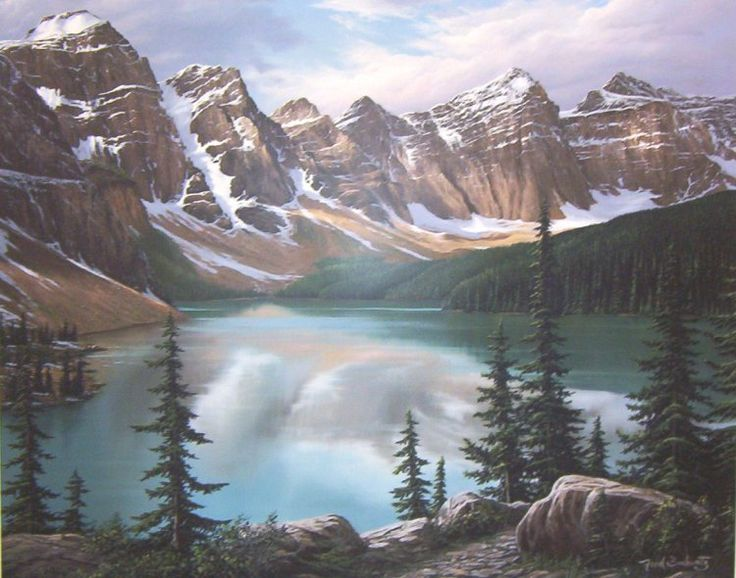 fred buchwitz canadian rocky mountain paintings
