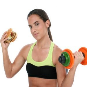 Great article with tips on how to gain weight... the healthy way! That means no to the cheeseburger in her hand.