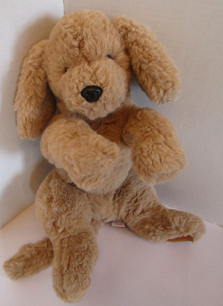 Gund Muttsy Plush Dog Golden Retriever 1361 16 Suede Paws Fur
