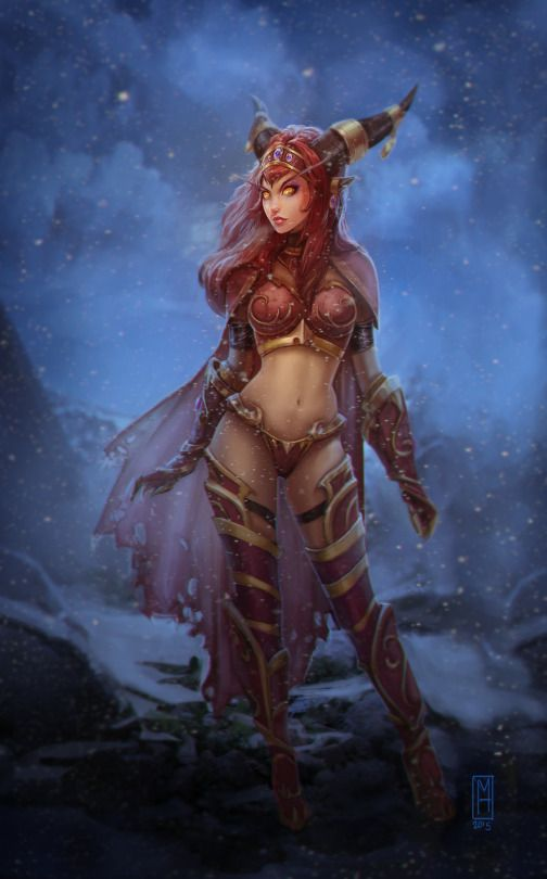 Alexstrasza - World of Warcraft fan art by Noxiihunter (Michelle Hardy)