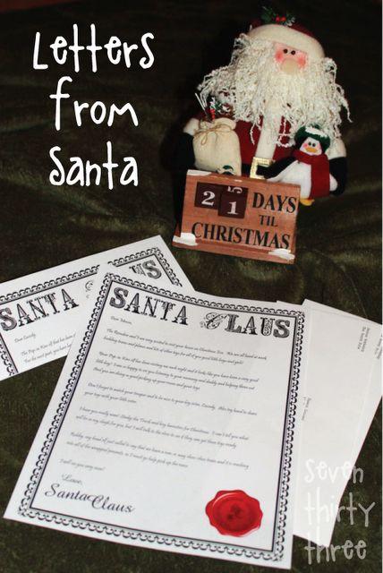 Freebie: Letter from Santa Paper