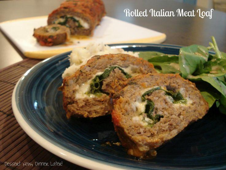 Rolled Italian Meat Loaf | Recipe