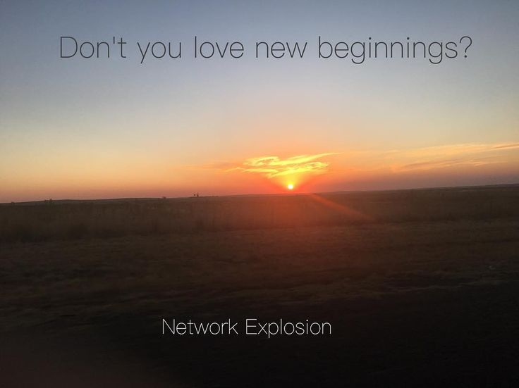 Don't you love new beginnings?