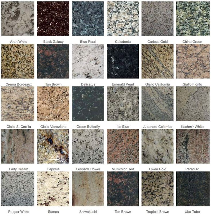 Some different samples of Granite « The Shine Stone.  This is what buyers want!
