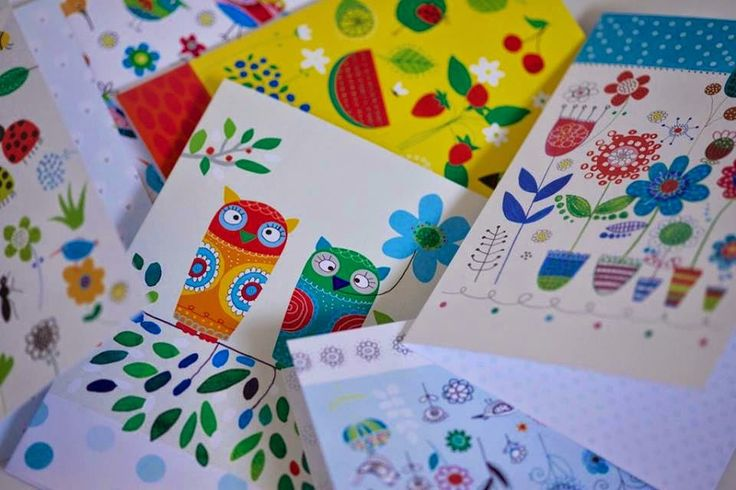 New greeting cards with my illustrations for 71 PRINTS, photo © 71 PRINTS