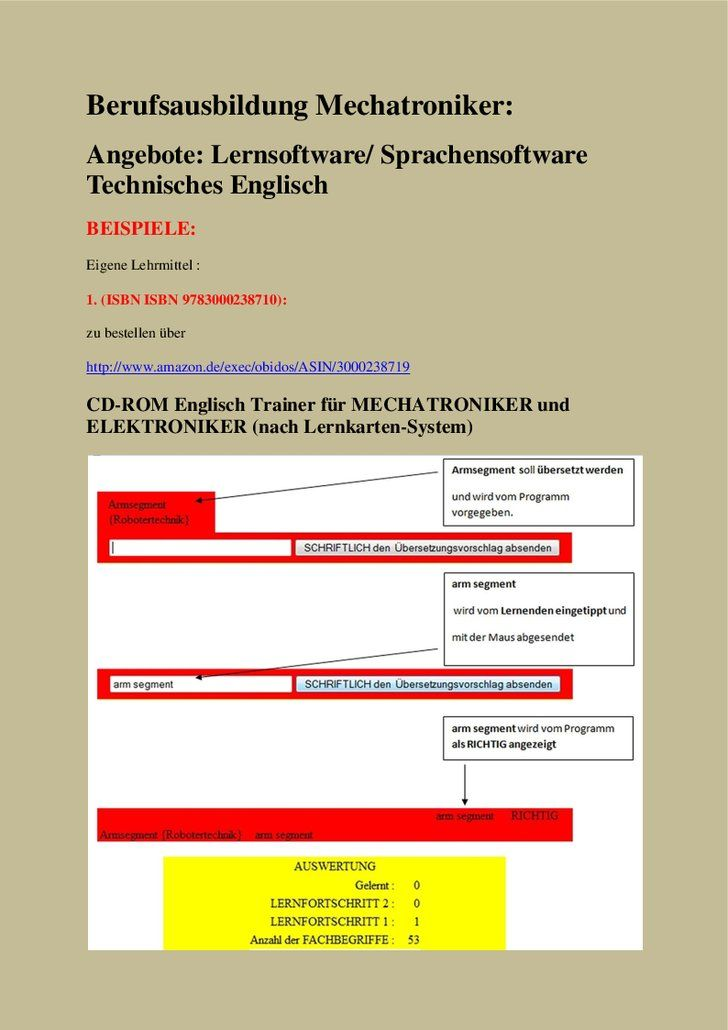 Mechatroniker Berufsausbildung Angebote Lernkarten Sprachensoftware Technisches Englisch Technisches Englisch Lernkarten Und Robotertechnik