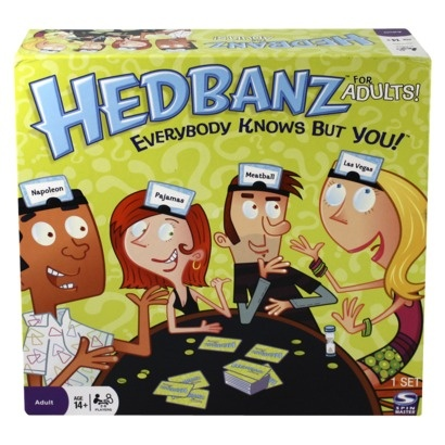 Hedbanz Game - Adult Version : Target This game is hilarious and addictive. There's also a really fun kid's version that I would love to put in my classroom. $20