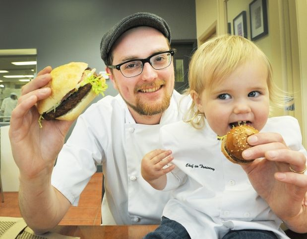 Make Dad drool with simply sensational burgers