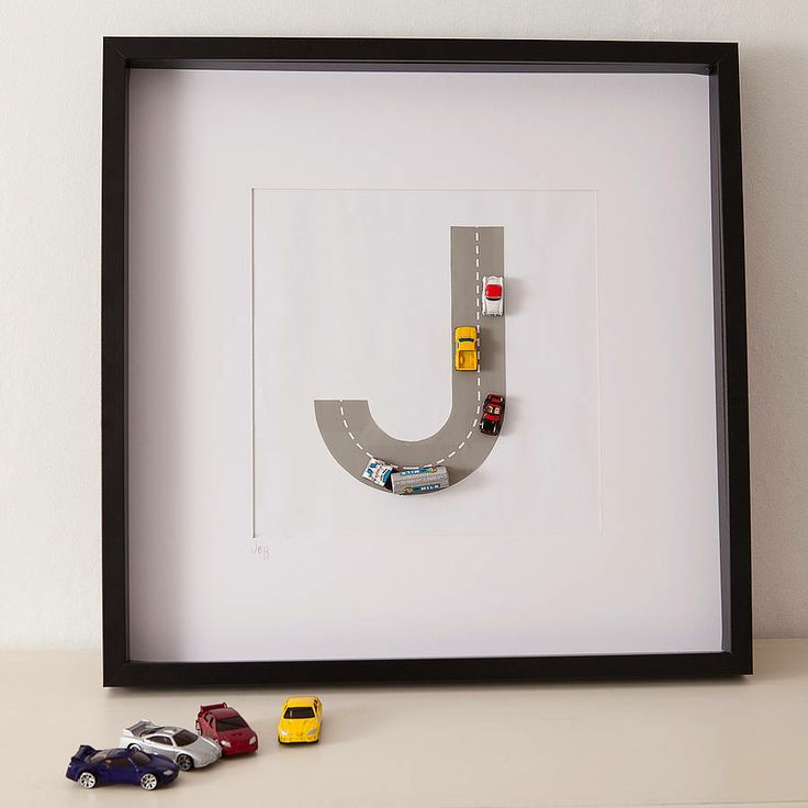 Personalized toy letter art