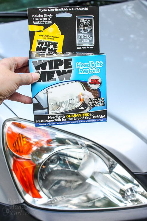 Do the headlights on your car look foggy? @PrettyHandyGirl shares with you The Easiest Way to Make Automobile Headlights New Again! http://spr.ly/6491B7H3T