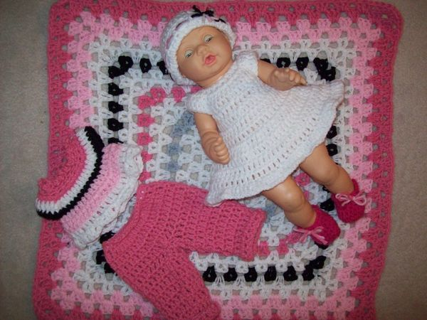 Crochet baby bits 14 5 doll ensemble doll amigurumi for 5 inch baby dolls for crafts