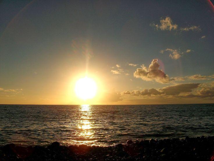 Couché de soleil plage Absalon