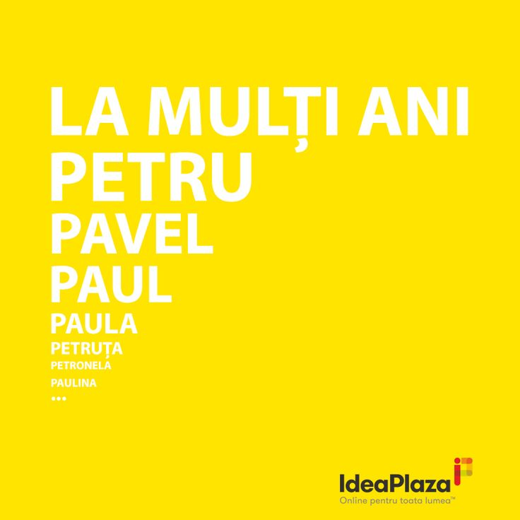 La multi ani tuturor celor care serbeaza astazi ziua numelui!   #Petru #Pavel #Paula #Petruta #Petronela #Paul #Paulina