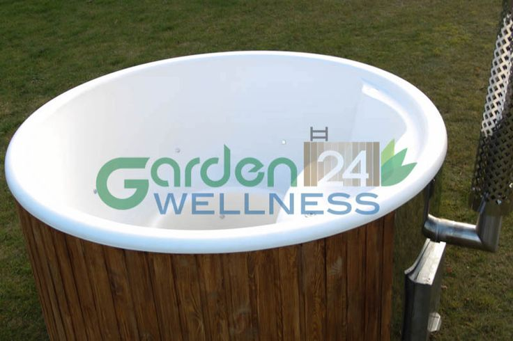 Deluxe wellness hot tub with integral heater #hottub #woodburning #spa #ledlights #airbubbless