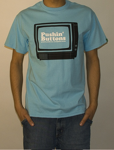 Gamma - Pushin Buttons - Tee. £26  Designed by Rob Swain / Official Classic
