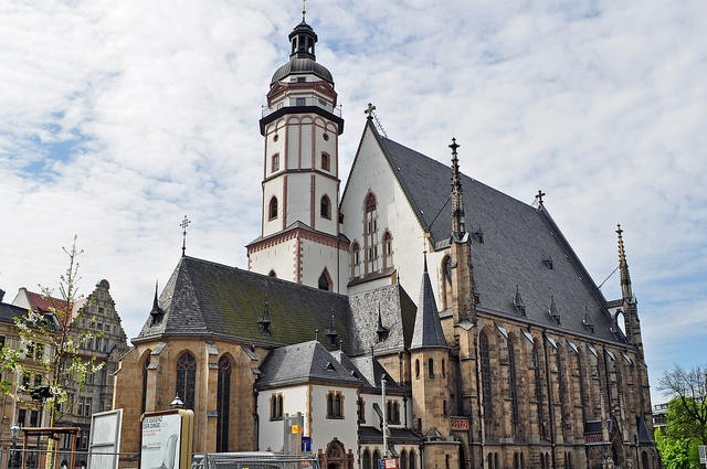 Thomaskirchen (St Thomas Lutheran Church) In Leipzig, Germany. This Is The Church Where JS Bach Was The Music Cantor And Who Directed The Now World Famous Thomanerchor (St. Thomas Boys Choir Which Was Started Back In 1212 AD) And JS Bach Served At This Church From 1723 To 1750 AD And Is Now Buried There. This Church Now Has 2 pipe Organs, The Older Sauer Organ Up In The Choir Loft And The New Bach Organ. The St. Thomas Boys Choir regularly Performs here with their accompaniment orchestra.