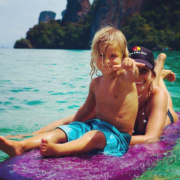 This is why I want a boy. Look at how fricking adorable he is! And he's a surfer. Now he needs the NINJA part....