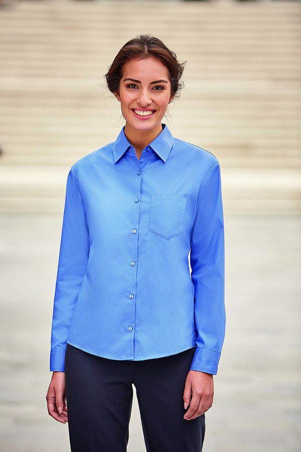 fffa2e109d Camisa para mujer de manga larga. Gama de camisas 100% algodón popelin.  Cómoda