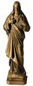 Bronze Composite Marble Sacred Heart of Jesus Statue