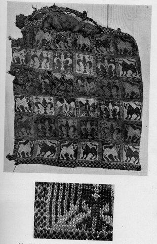 Knitted cushion of the tomb of Malfalda de Castilla y Plantagenet alda (side 2), late 13th century