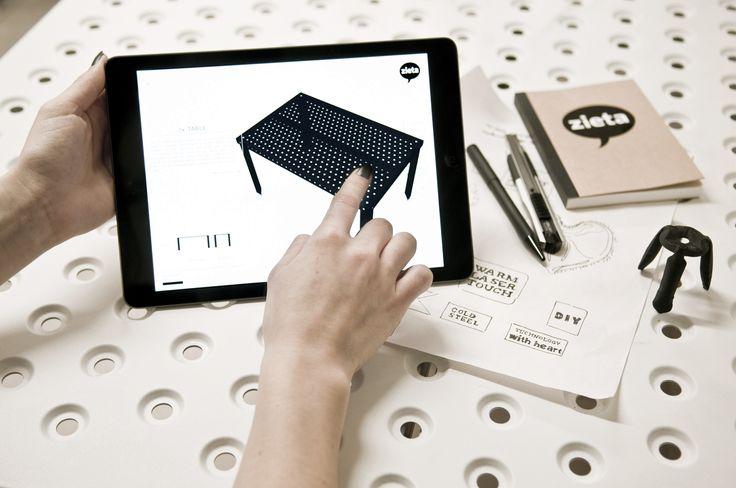 3+ table + Cust app  download link: https://itunes.apple.com/pl/app/cust-zieta-prozessdesign/id886664382?mt=8