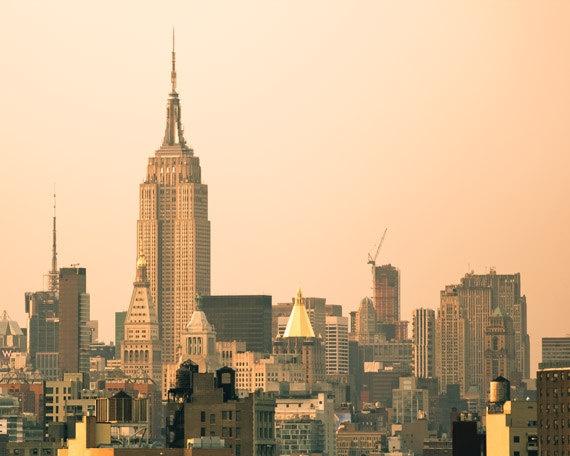 New York City skyline Manhattan Empire State by NancyFalsoPhotos